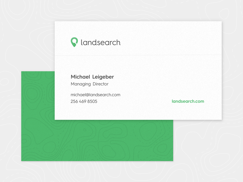 Clean Business Card business card identity corporate clean simple topography green card brand