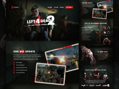 Left 4 Dead 2: The Last Stand - Mocktober 2020 zombies web design website gaming grit texture ui mocktober