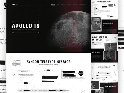 Lunar Truth website web design texture mocktober movie lunar space apollo