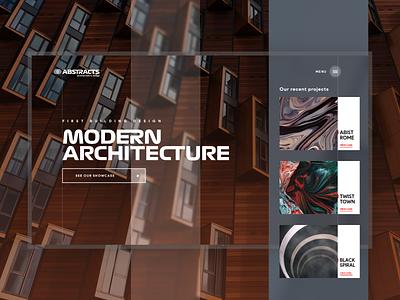 Modern Architecture Website Concept adobe xd branding typography concept architectural webdesign ui web design