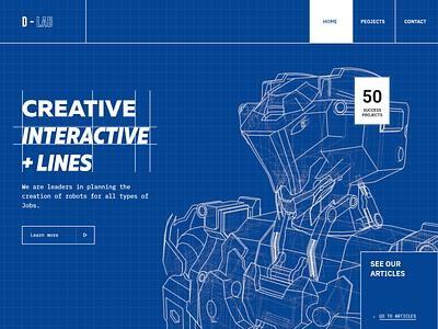 Website Concept 3d design concept modern clean adobe xd futuristic shaders c4d cinema 4d blue print