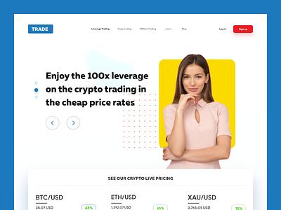 Trading - Website Design adobe xd concept modern clean ui illustration ux colors trading webdesign photoshop pexels