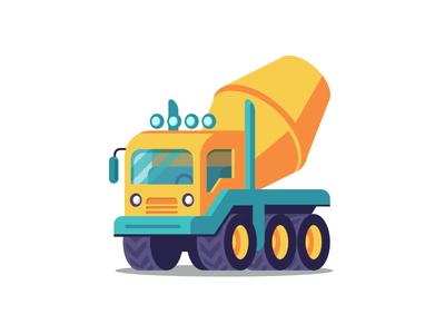Mixer construction truck cement mixer mixer yellow