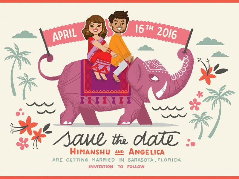 Free Online Indian Wedding Invitation Website: Save The Date By Himanshu Sharma On Dribbble