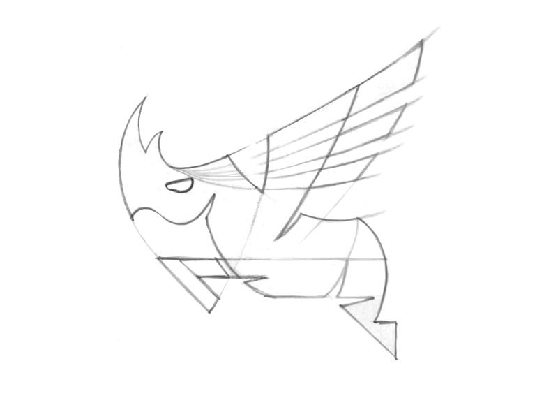 Soaring Rhino Sketch board game gaming game mobile soaring flying rhino sketch logo branding brand development