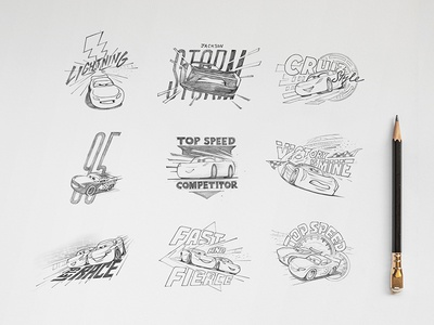Cars 3 Licensing Sketches