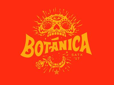 Botánica Mark Development illustration music festival day of the dead skull branding botanical