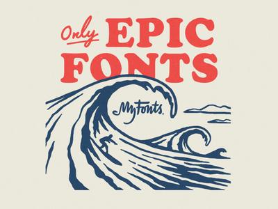 My Fonts Surf Ads shred gnar ocean illustration waves myfonts surf
