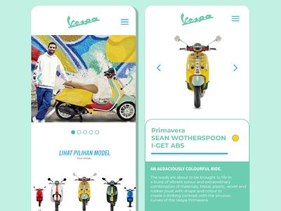 Vespa Store Mobile Apps ux ui