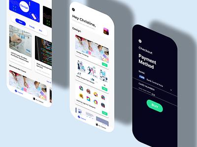 Mobile Apps Learning branding ux design ui