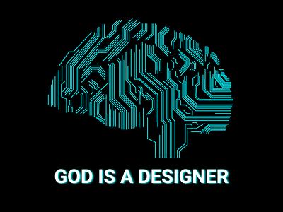 God Is A Designer branding illustration