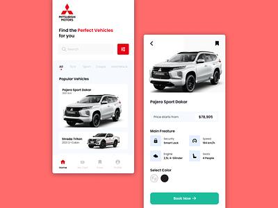 Car Book UI Mobile Design mobile design car booking app ui design ui