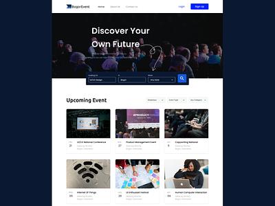 BogorEvent webdesigner uidesigner uidesign userinterfacedesgin designchallenge day1designchallenge