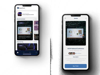 BogorEvent Application user experience mobile design ux design user interface ui
