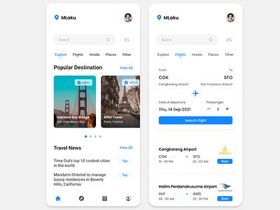 MLaku Travel App user interface branding mobile design ui ux