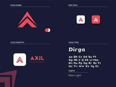 Axil Logo Design logodesign graphic design illustrator flat minimal icon vector logo illustration design