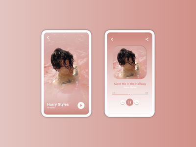 Daily UI - Music Player music player harrystyles dailyuichallenge app mobile design mobile mobile app minimal dailyui ui design