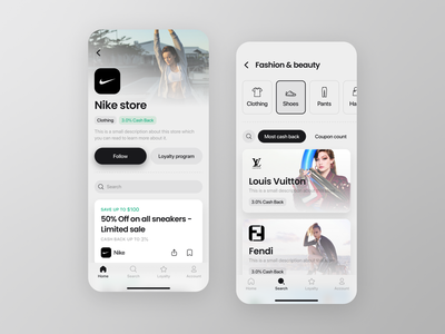 Ruby - Promotions And Coupons App mobile app design mobile design mobile app mobile ui mobile explore ui design application app app design home page design homepage design homepage uiux ui  ux uidesign ui
