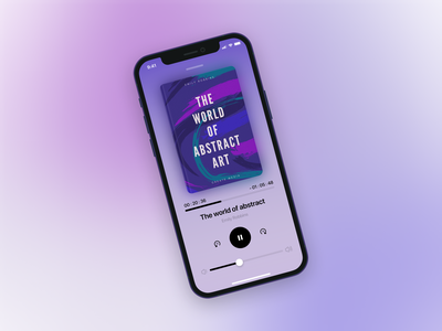 Audio Book App - Now Playing application mobile design mobile app app design app mobile ui ui design minimal mobile app design mobile uiux ui  ux uidesign ui