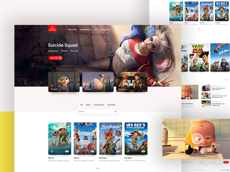 Movie Review Website by Himel on Dribbble