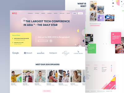 RISE Conference Website Concept