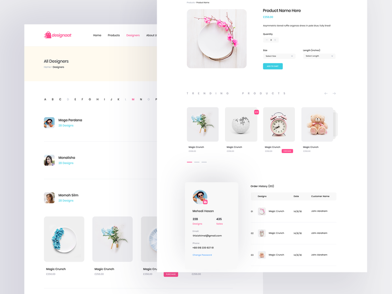 E-commerce Website Inner Pages trend mockup shop design e-commerce online shopping ecommerce shop interace design redesign minimal cards colorful web ux clean website ui