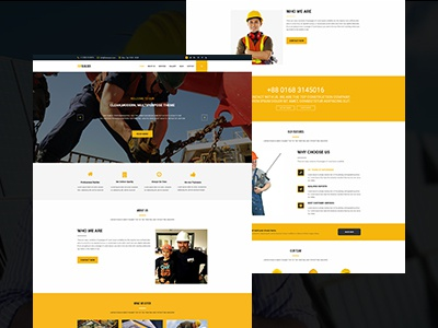 TopBuilder - Construction Business Template repair renovation plumber mining industry engineering contractor construction construct building architecture architects