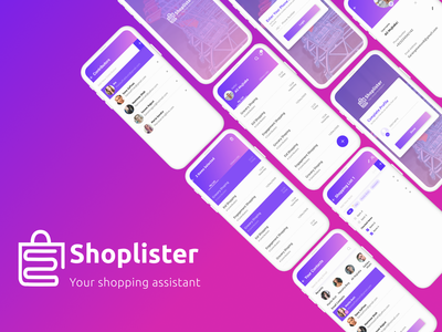 Shoplister 1 shoping app shop data dashboard design ux mobile app branding graphic design logo ui