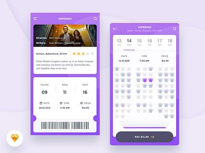 Cinema App Freebie review ios booking 10clouds movie ticket freebie app cinema