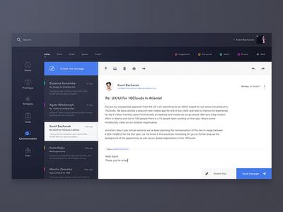 Email App - dark theme