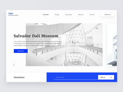 Architecture Landing Page museum intro image hero bachanek kamil page landing architecture 10clouds