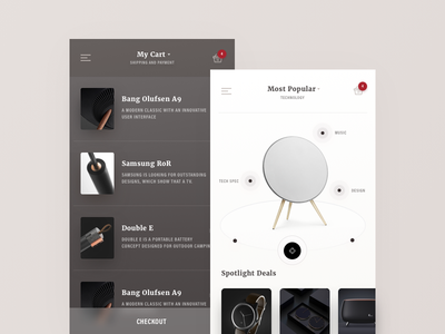 Bloosom - Project overview design mobile checkout basket store shop popular product cart
