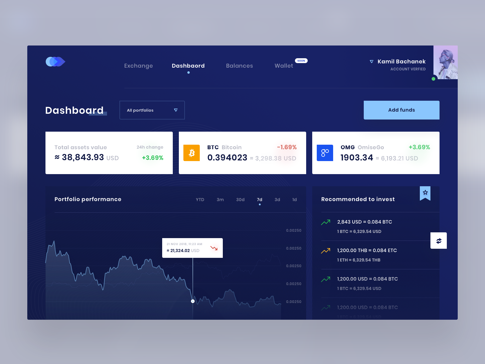Coinzy dashboard 1600x1200