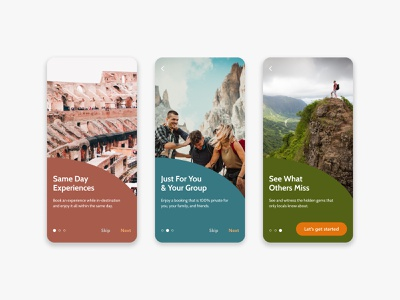 Daily UI 023 – Onboarding for Travel App onboarding ui onboarding travel app dailyui 023