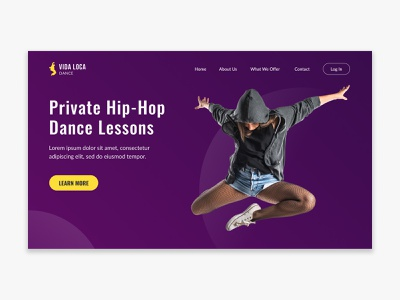Daily UI 003 – Landing Page for Dance Company hip hop dance landing page 003 daily ui challenge daily ui dailyui