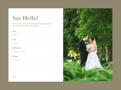 Daily UI 028 – Contact Form wedding photography contact form 028 daily ui challenge daily ui dailyui
