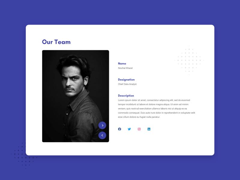 Our Team Section company ui branding patterns concept website design social flat design minimal dribbble nepal website teamwork team