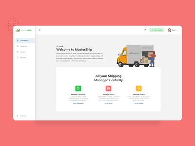 MindShip Dashboard Page payments ecommerce delivery truck admin dashboard admin panel dashboard logistics shipping ui flat design minimal dribbble nepal