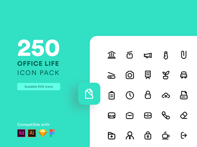 Office Life Icon Set vector icon design lines outline icons outline visual design interface ui minimal nepal iconography iconset set office icons icon