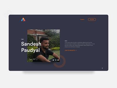 Portfolio Design portfolio website project projects landing signature programmer coder developer ui branding logo dribbble minimal nepal portfolio portfolio design