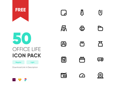 Free Office Life Icon Pack free download freebie office office space icon design icons iconography icon set icondesigner icondesign icon vector design minimal nepal
