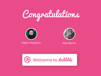 Welcome to Dribbble