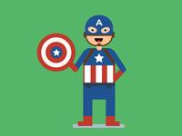 Captain America Flat Design
