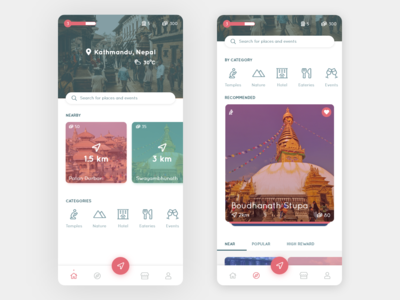RedShift - Tourism Application