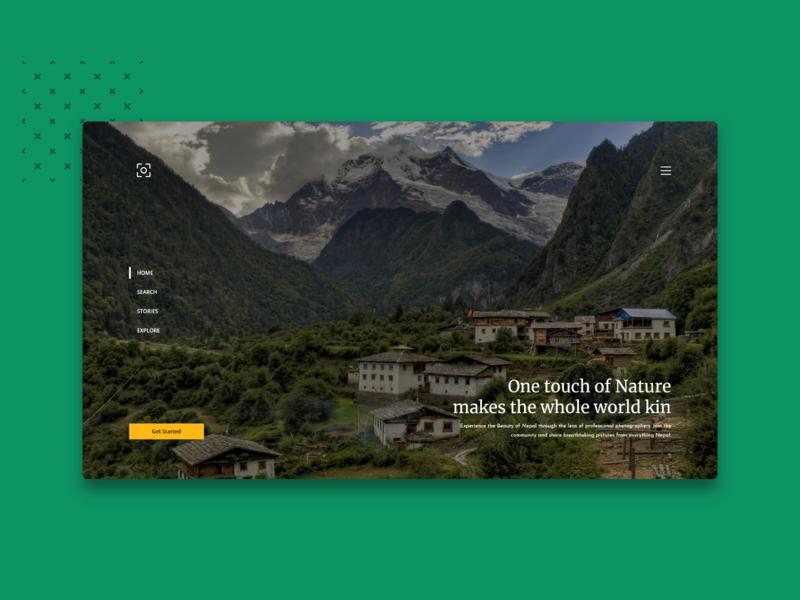 Photo Platform stock photo template platform photos photography travel camera logo design flat design dribbble nepal photo