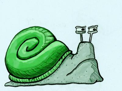 More detail for the snail illustration sketch snail