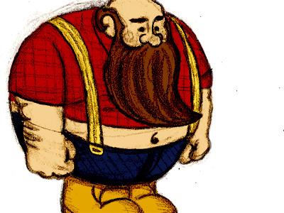 Lumberjack Angle Color Study character sketch color