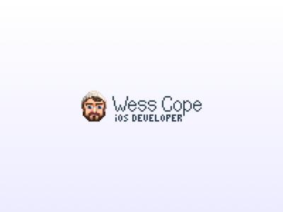W. Cope, pixel avatar typography ios avatar pixel