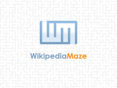 WikipediaMaze Logo logo blue orange