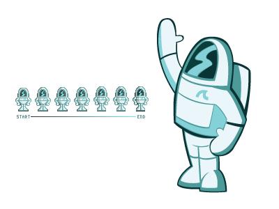 Ackernaut Pixel Evolution pixels illustration character